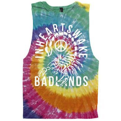 In Hearts Wake IHW - Badlands Tye Dye Cut Off