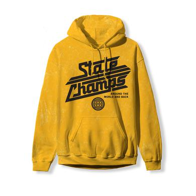 State Champs SC - Around The World Gold Acid Wash Hoodie