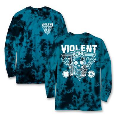 Violent Soho - Blazin' Skull Long Sleeve Dye