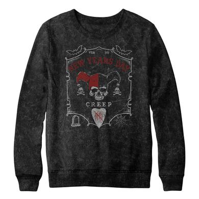 New Years Day NYD Acid Wash Harley Quinn Crew