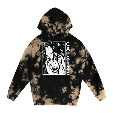 """CAPSIZE """"Cry"""" Bleached Dye Hoodie"""