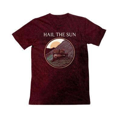 Hail The Sun HTS - Maroon Mountain Acid Wash T Shirt