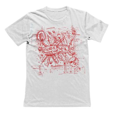Pierce The Veil PTV - Misadventures Tee (White)
