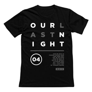 Our Last Night OLN - Black Layout Tee