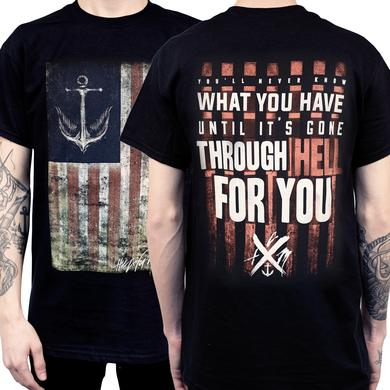 The Color Morale TCM Gone Through Hell Flag Tee