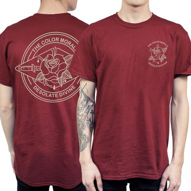 The Color Morale TCM Maroon Rose Dagger Tee