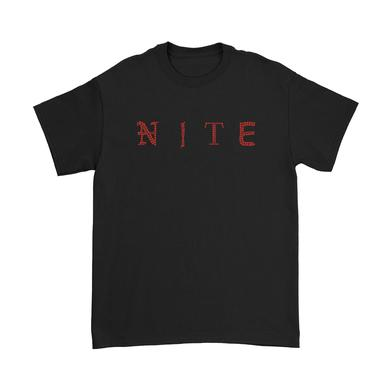 Emo Nite Nite Tee - Red Rhinestones