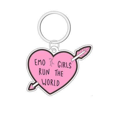 Emo Nite Emo Girls Run The World Keychain