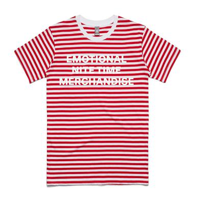 Emo Nite Emotional Nite Time Striped Tee - Red