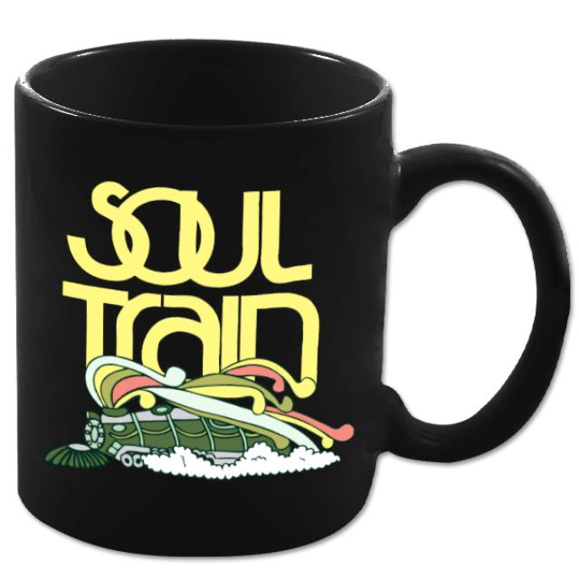 Soul Train Color Logo Train Black Mug