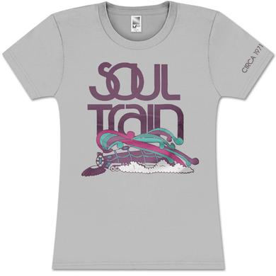 Soul Train Girls Color Logo Train Grey Tee