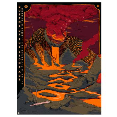 Queens Of The Stone Age Honolulu Show Poster - Night 1