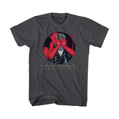 Queens Of The Stone Age Villains Cover Art Tee (Charcoal)