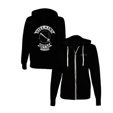 Queens Of The Stone Age Villains Biker Zip-Up Hoodie - Black