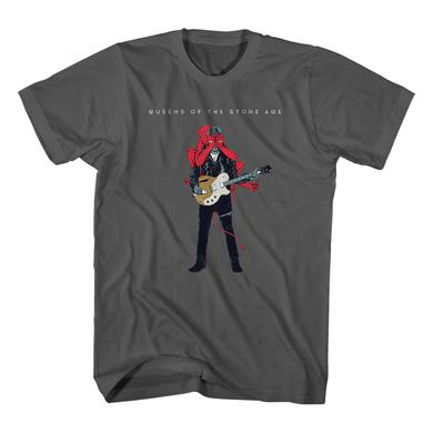 Queens Of The Stone Age Villains Charcoal Tee