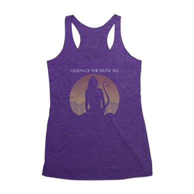 Queens Of The Stone Age Succubus Racerback Tank (Vintage Purple)