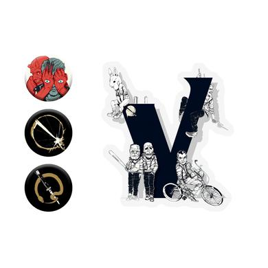 Queens Of The Stone Age Button and Sticker Pack