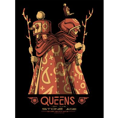 Queens Of The Stone Age Fresno Show Poster