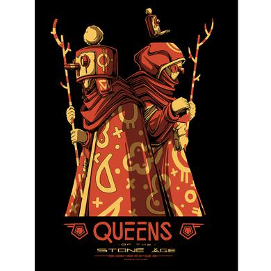 Queens Of The Stone Age Fresno Foil Show Poster