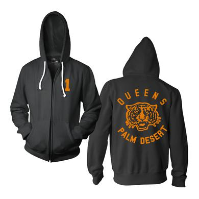 Queens Of The Stone Age Tiger Zip-Up Hoodie (100% Cotton)