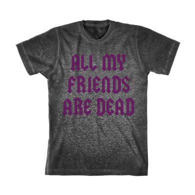 Lil Uzi Vert Dead Friends Acid Wash T-Shirt