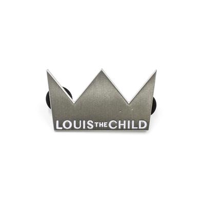 Louis the Child Crown Enamel Pin / Silver