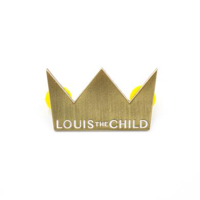 Louis the Child Crown Enamel Pin / Gold
