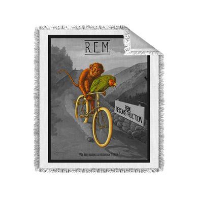 R.E.M. Monkey on a Bicycle Blanket (Black & White)