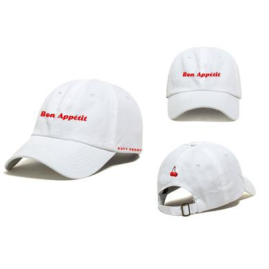 Katy Perry Bon Appetit White Dad Cap