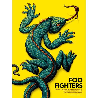 Foo Fighters The Woodlands, TX Event Poster