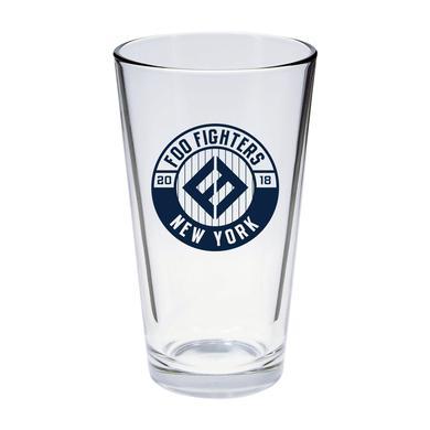 Foo Fighters NYC Pinstripe Pint Glass