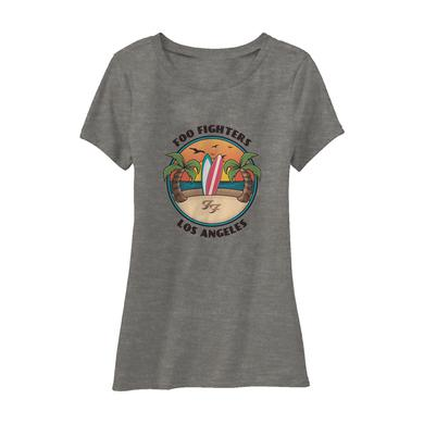Foo Fighters Beach Day Women's Tee (Heather Ash)