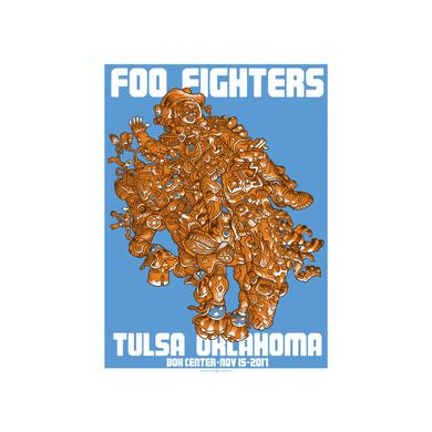 Foo Fighters Tulsa Foil Event Poster