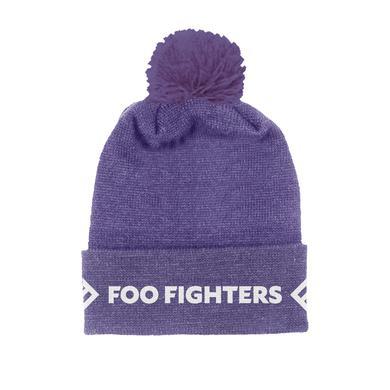 Foo Fighters Purple Foldover Beanie