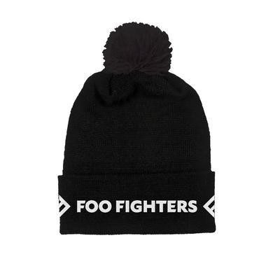 Foo Fighters Black Foldover Beanie