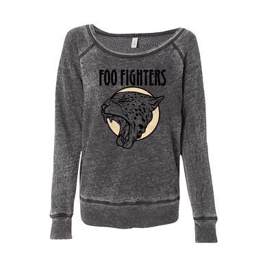 Foo Fighters Cheetah Women's Wide Neck Sweatshirt