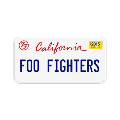 Foo Fighters California License Plate