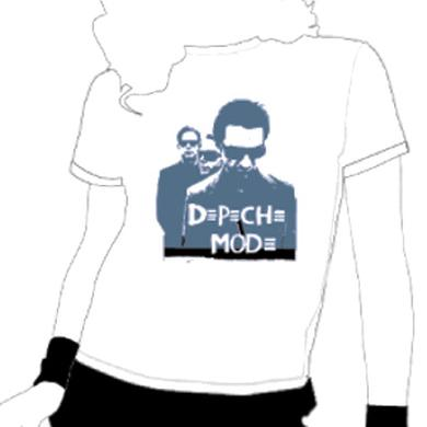 Depeche Mode - Flocked Band Image T-Shirt