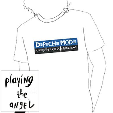 Depeche Mode - White Strip Logo T-Shirt
