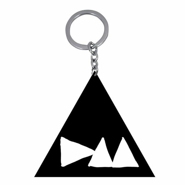Depeche Mode DM Logo Metal Black Keychain