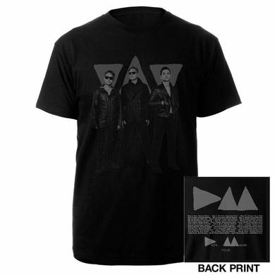 Depeche Mode Band Photo Triangle/Itin Black T-shirt