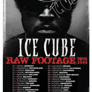Ice Cube *AUTOGRAPHED* Raw Footage Tour Poster