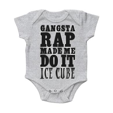 "Ice Cube ""Gangsta Rap Made Me Do It"" Infant's onesie"