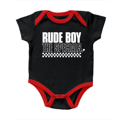 "The Specials ""Rude Boy"" Black and Red Onesie"