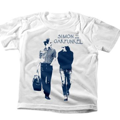 "Simon & Garfunkel ""Walking"" Kids White T-Shirt"