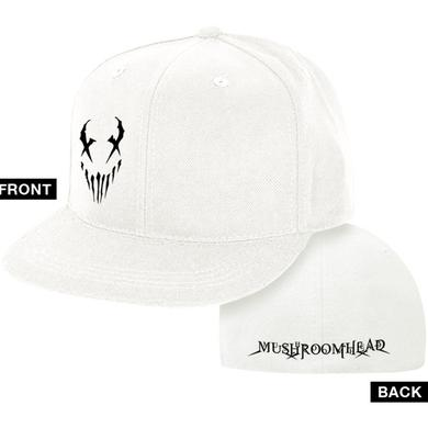 """Mushroomhead """"X-Face"""" Flex Fit Hat White and Black"""