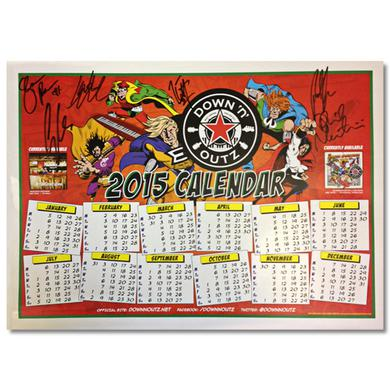 DOWN N OUTZ Down N' Outz AUTOGRAPHED 2015 Poster Calendar in Red