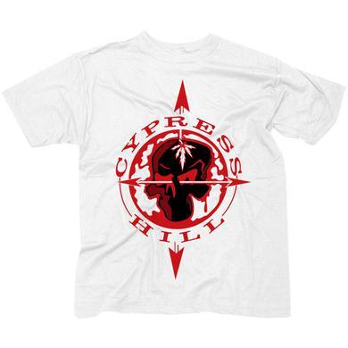 "Cypress Hill ""Skull & Compass"" White T-Shirt"