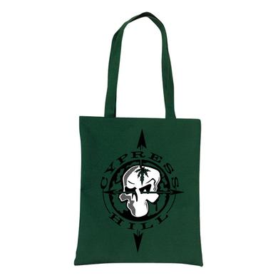 "Cypress Hill ""Skull & Compass"" Green Tote Bag"