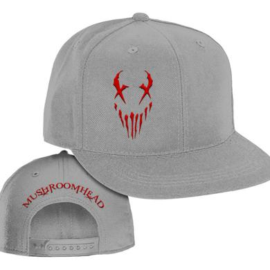 """Mushroomhead """"X-Face"""" Snap Back Hat Grey/Red"""